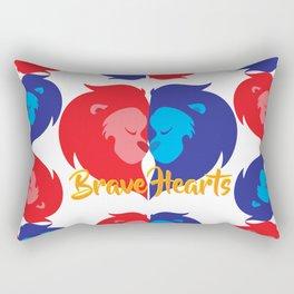 BRAVE LION HEARTS Rectangular Pillow