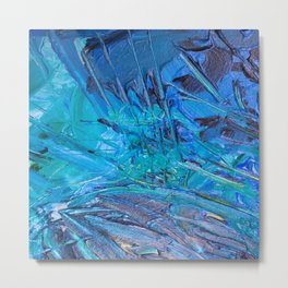 Abstract blue painting Metal Print