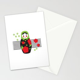 Pop-art Russian Doll Matryoshka Stationery Cards