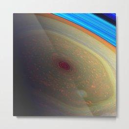 Saturn hexagonal feature Metal Print