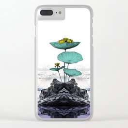Seascape and Flower Clear iPhone Case