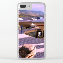 Boats on Dock Clear iPhone Case