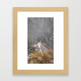 Burried in snow Framed Art Print