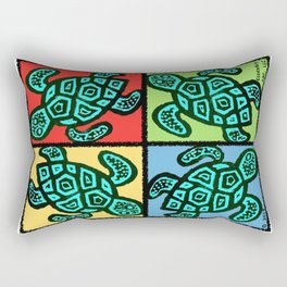 Pop Turtles Rectangular Pillow