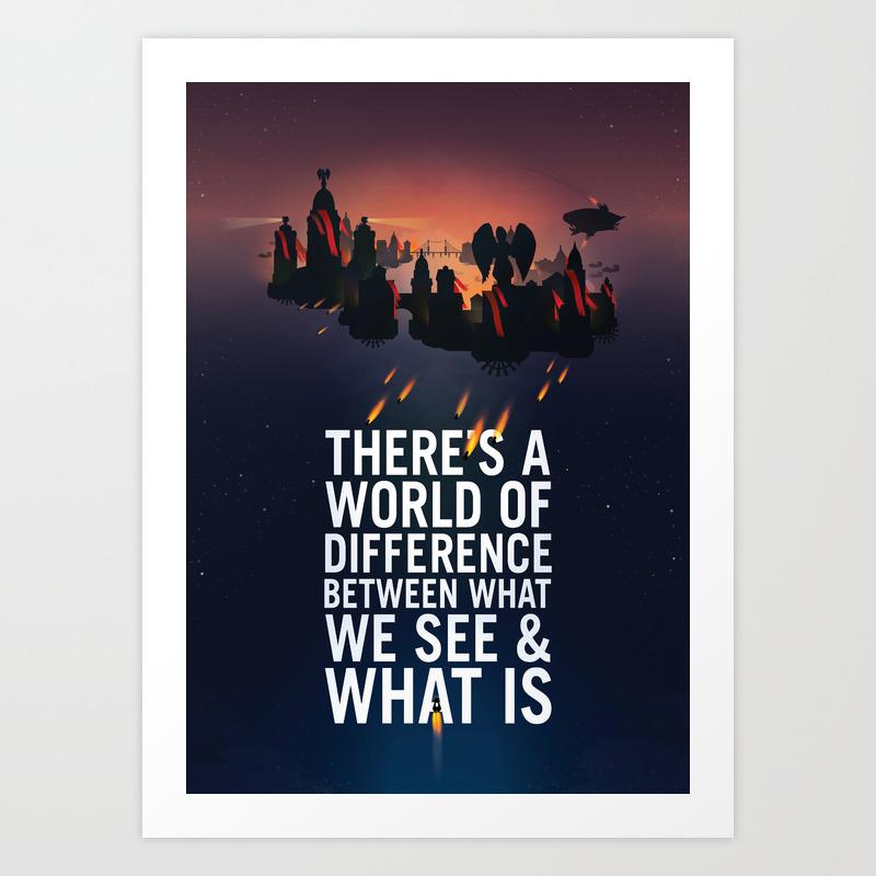 Bioshock infinite columbia quote art print