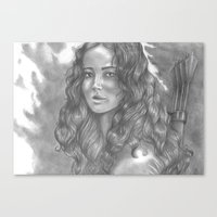 katniss Canvas Prints featuring Goodbye by ombradellaluna
