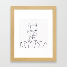 Grace Jones Smoking Framed Art Print