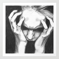 pain Art Prints featuring Pain by ArtLm