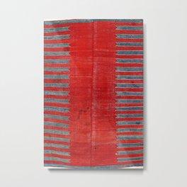 Yürük  Antique Manisa West Anatolian Kilim Print Metal Print