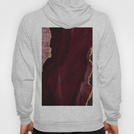 Agate, Burgundy Pink Faux Gold Hoody