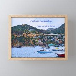 """Catalina Harbor""/ ""Time"" Framed Mini Art Print"
