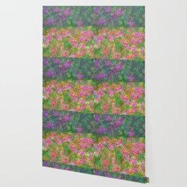 Meadow Pattern With Flowers Wallpaper