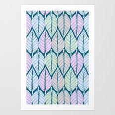 Pastel Leaves Art Print