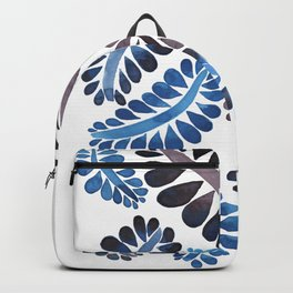 Blue leaves pattern Backpack