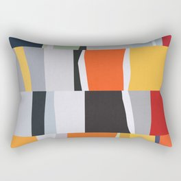 Colorful art in bands I Rectangular Pillow