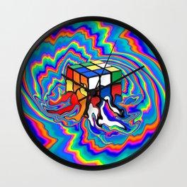 Fractal Cube Melt by Amanda Martinson Wall Clock
