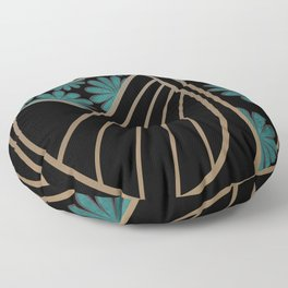 ART DECO FLOWERS (abstract) Floor Pillow