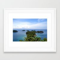 philippines Framed Art Prints featuring Hundred Islands, Philippines 02 by berrygoochampagne
