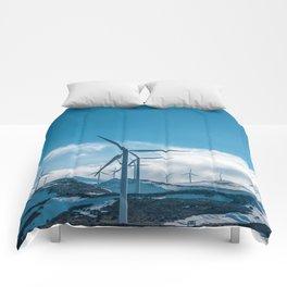 The Wind Farm (Color) Comforters