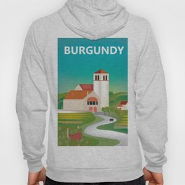 Burgundy, France - Skyline Illustration by Loose Petals Hoody