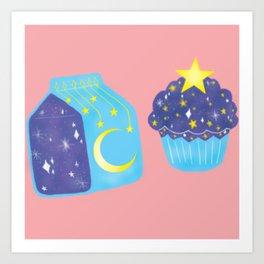 lechita y pastelito cosmico Art Print