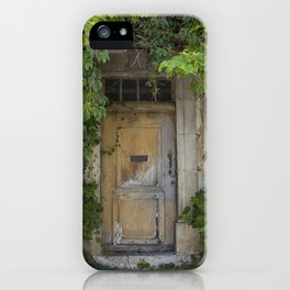 Provence Door covered with green vines iPhone Case