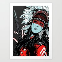hunter Art Prints featuring Hunter by Filipe Survival