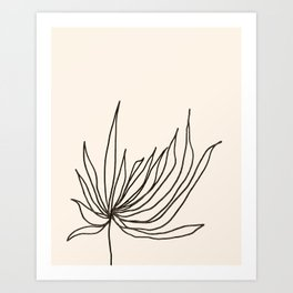 Minimal Floral #2 Modern Art Print Art Print