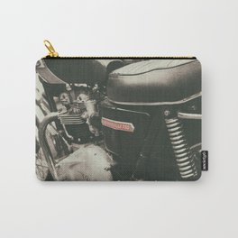 Vintage english motorcycle. Carry-All Pouch