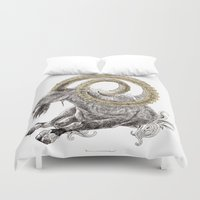 capricorn Duvet Covers featuring Capricorn by Dennis Wilder