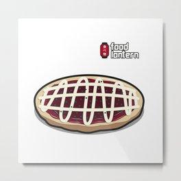 Food Lantern - Okonomiyaki Metal Print