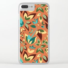 Sunny Sunset Plants Clear iPhone Case