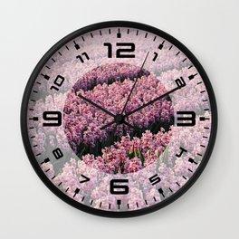 Hyacinth field Wall Clock