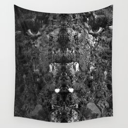 Watercolor Anthropomorphism 23, Preying-mantface Wall Tapestry