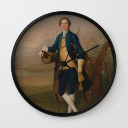Arthur Devis - Gentleman with a Cannon (1741) Wall Clock