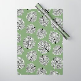 Abstract Monstera Leaf Pattern green Wrapping Paper
