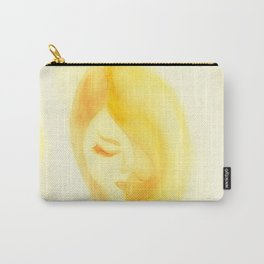 Shy in Yellow Carry-All Pouch