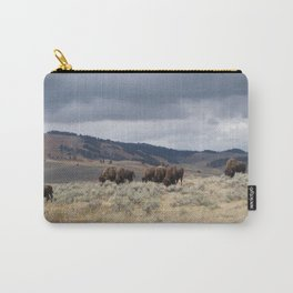 Bison in Yellowstone National Park Carry-All Pouch