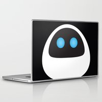 pixar Laptop & iPad Skins featuring PIXAR CHARACTER POSTER - Eve - WALL-E by Marco Calignano