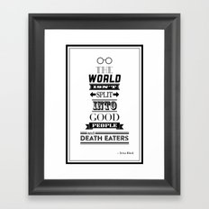 HP Quotes - Order of the Phoenix Framed Art Print