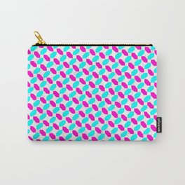 Inverted Pink & Light Blue Diamonds Carry-All Pouch