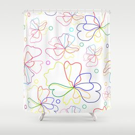 Colorful flower design Shower Curtain