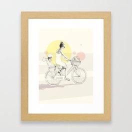 Bike ride (one) Framed Art Print
