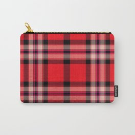 Argyle Fabric Plaid Pattern Red and Black Colors Carry-All Pouch