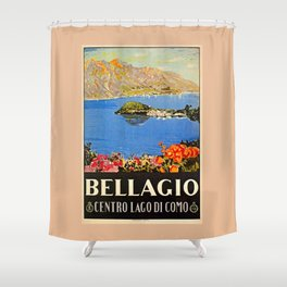 Italy Bellagio Lake Como Shower Curtain