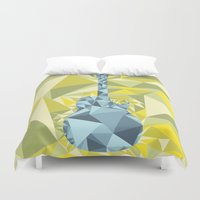 guitar Duvet Covers featuring GUITAR by petitscoquins