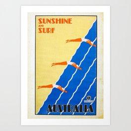 Vintage Travel Poster Art Print