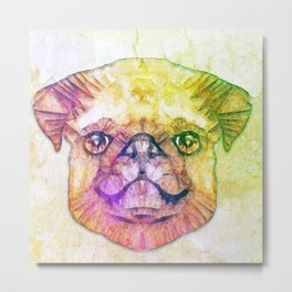 abstract pug puppy  Metal Print