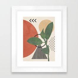 Nature Geometry III Framed Art Print