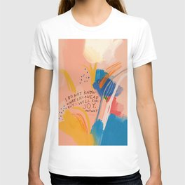 Find Joy. The Abstract Colorful Florals T-shirt